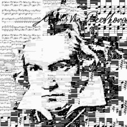 Beethoven. Sheet music from Piano Sonata No 8 - Pathétique